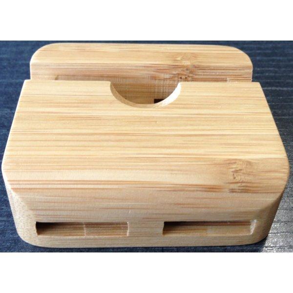 holz tisch st nder halter lautsprecher f r iphone 5 5s ebay. Black Bedroom Furniture Sets. Home Design Ideas