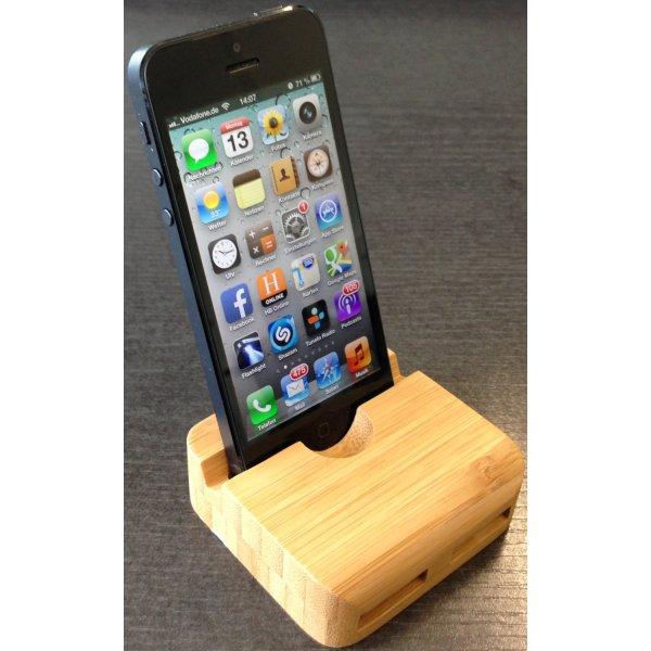 holz tisch st nder halter lautsprecher f r iphone 5 5s. Black Bedroom Furniture Sets. Home Design Ideas
